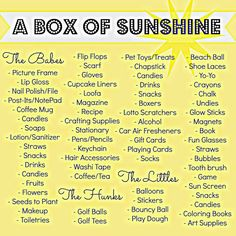 box of sunshine idea